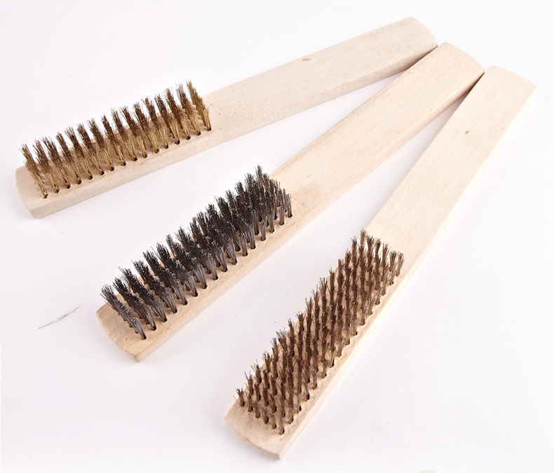 5 X Small Mini Wire Brush Set Steel Copper For Cleaning Metal Rust Removal Kit
