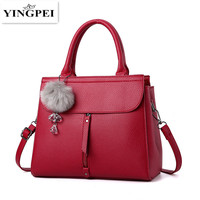 YINGPEI Women Handbag PU Leather Bag Zipper Crossbody Bag High Quality Original Design Handbags Top Handle