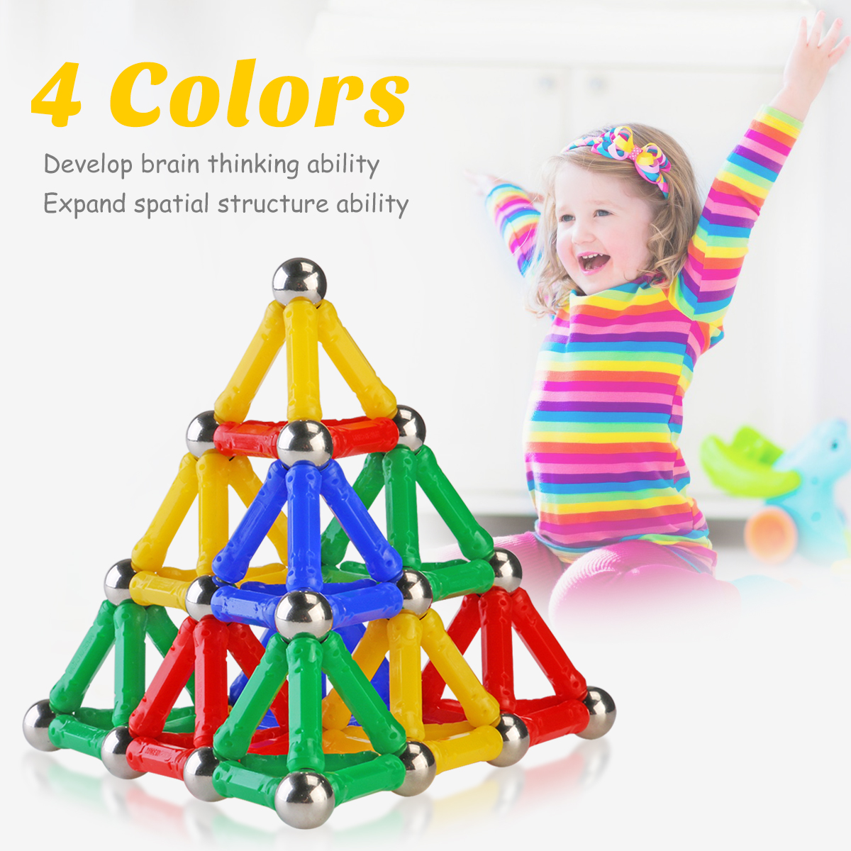 2017 Hot Product Magnetic Toys Sticks Building Blocks Set Kids Educational Toys For Children Magnets Christmas Gift hot sale 1000g dynamic amazing diy educational toys no mess indoor magic play sand children toys mars space sand