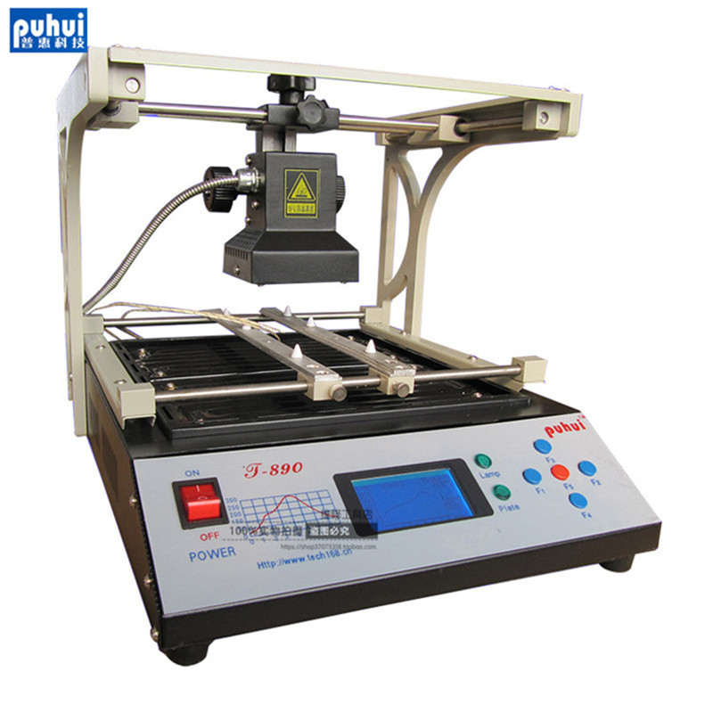 PUHUI T-890 T890 BGA Double Digital Infrared Station BGA/IRDA/IFR/SMD/SMT WELDER Basic Solder Station 220V ph015 puhui t 835 110v 220v bga irda welder infrared bga soldering and desoldering smd rework station t835