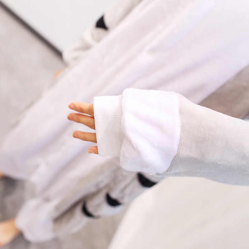 ... PSEEWE фланелевые зимние пижамы для девочек для Женщин Единорог панда  стежка комбинезоны пижамы с животными для ce0c157fe53a8
