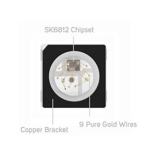 Image 3 - Sk6812 100 rgb pixel smd (similar com ws2812b), 10 peças 5050/3535 peças chip digital endereçável individualmente, cor completa, led, dc5v