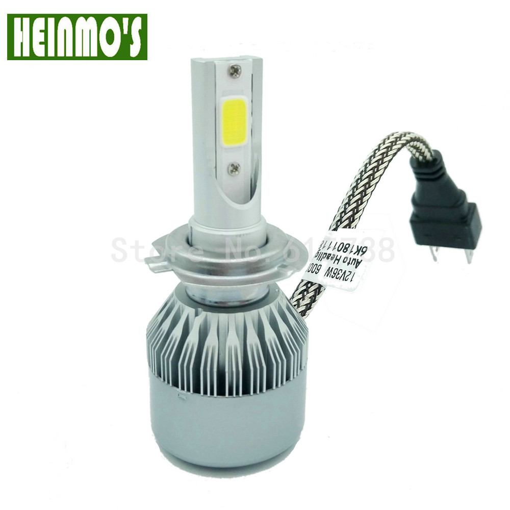 72W 7600LM COB LED H7 Bilstrålkastare Allt i ett H8 H9 9005 HB3 9006 - Bilbelysning - Foto 4
