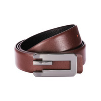 New Creative Belt Black Coffee Genuine Leather Alloy Smooth Buckle Business Soft Men's Belt Cow Leather Luxury Brand Male G Belt