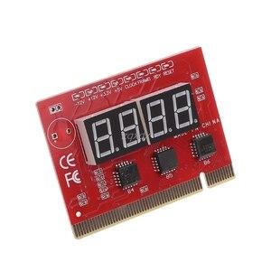 Image 1 - 新しいコンピュータ pci ポストカードマザーボード led 4 桁の診断テスト pc アナライザ whosale & ドロップシップ