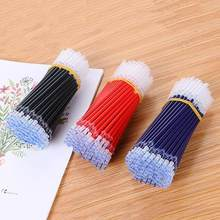 0.38mm 10pcs/bag Gel Pen Refill Office Signature Rods Red Blue Black Ink Refill Office School Stationery Writing Supplies(China)