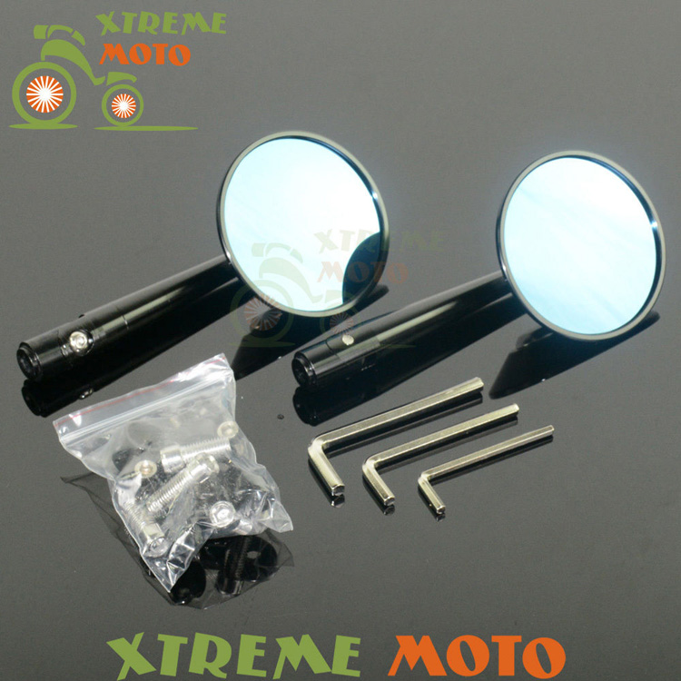 CNC Machined Aluminum Universal Side Rear Round Chopper Rearview Mirrors For  Street Bikes Cruisers Choppers Dirt Monkey Bike universal cnc aluminum rear side rearview mirrors for street bikes cruisers choppers dirt monkey bike scooter moptorcycle endruo