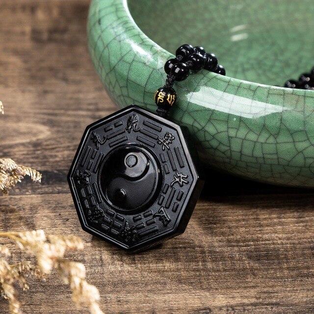 Traditional Obsidian Bagua Pendant
