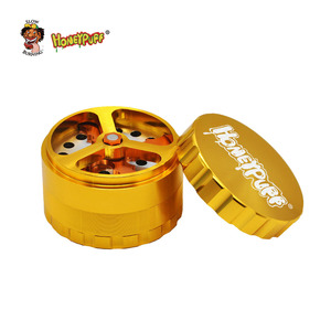 Image 3 - Honeypuff Kruid Tabak Grinder 63Mm/2.5 Inch 4 Deel Aluminium Crusher Moledor Roken Accessoires