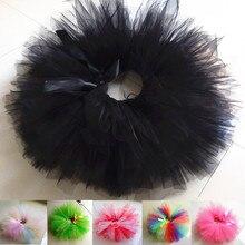 Праздничный костюм для маленьких девочек на день рождения; пышная Радужная черная юбка-пачка; разноцветная танцевальная юбка ручной работы для балета; одежда для детей