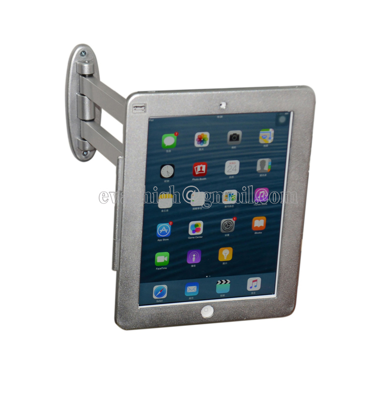 buy portable elastic flexible ipad wall mount flat pad security display lock tablet secure case antitheft support for ipad 234air from