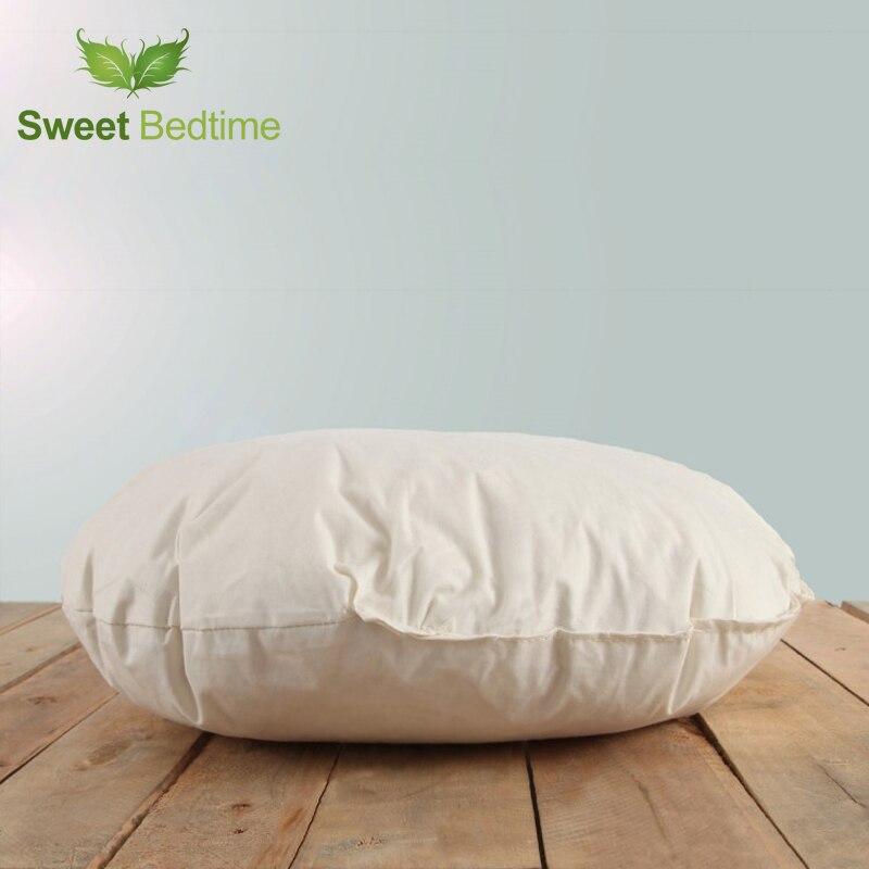 Rond épaissir siège coussin insérer sol tatami mat voiture canapé-lit dos coussin intérieur lombaire oreiller en duvet d'oie plume coussin noyau