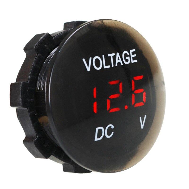 New Car Motorcycle DC12V-24V LED Panel Digital Voltage Meter Display Voltmeter Best Quality