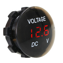 New Car Motorcycle DC12V-24V LED Panel Digital Voltage Meter Display Voltmeter Best Quality
