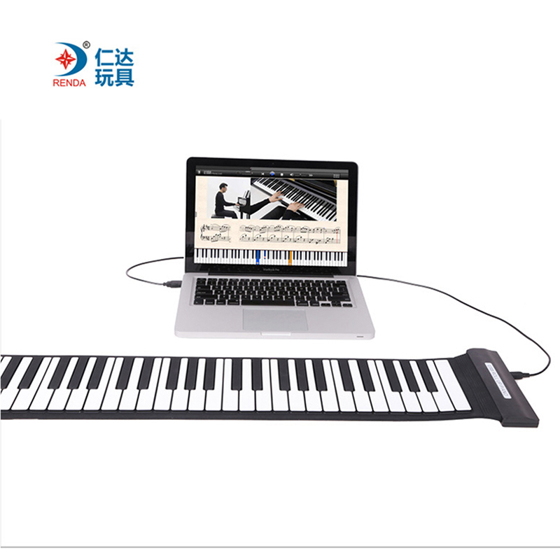 Portable Mini Roll Up Soft Silicone Flexible Electronic Digital Music Keyboard Piano With Loud Speaker For Different Children portable mini roll up soft silicone flexible electronic digital music keyboard piano with loud speaker for different children