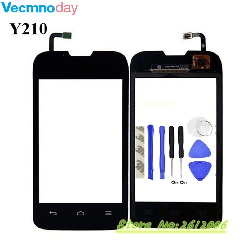 Vecmnoday Original For Huawei Y210 Touch screen Digitizer Sensor Glass Replacement Touchscreen Front Window Connect Flex Cable ...