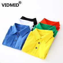 VIDMID Kids Girls solid Tees clothes Baby Boys Cotton Tops Tees Clothes Children Clothing short sleeve T-shirts clothing 4018 42
