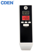 CDEN Professional Mini Police Alcohol Tester Breathalyzer Detector With Back-light LCD Display 5 Mouthpieces PFT661S