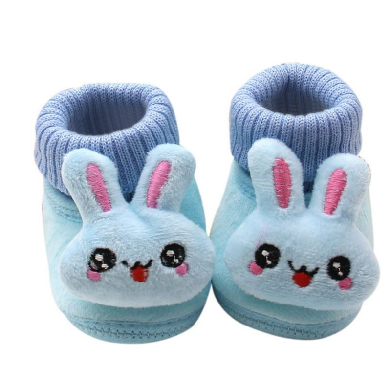 Autumn and Winter Cuffs 3D Cartoon Big Eyes Rabbit Baby Toddler Shoes Boys and Girls shoes