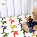 16 cores fox árvore peixe projeto Preto e branco capa de Colchão do bebê do algodão cama lençol 1 pcs para 130x70 cm meninos das meninas do bebê