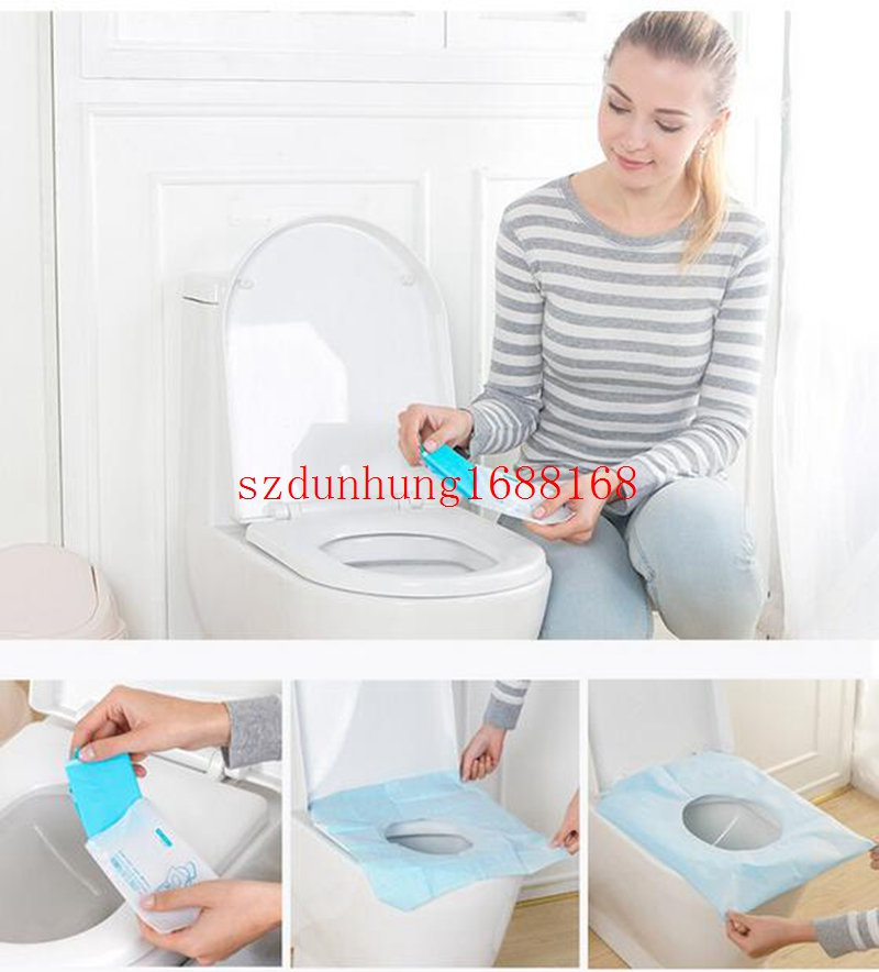 350Packs 3500Pcs/lot Disposable Paper Toilet Seat Covers Camping Festival Travel Loo Bathroom Set Accessories