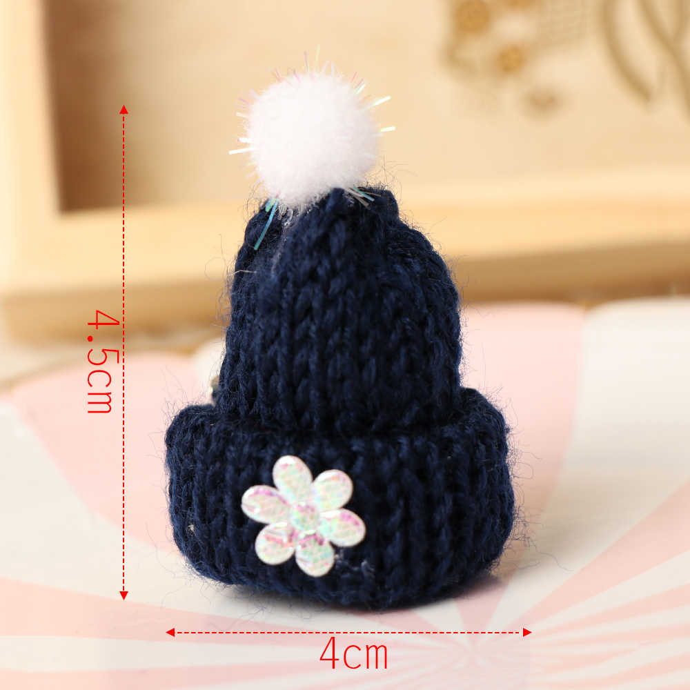 Warna Acak!! 1 Pcs Cute Mini Rajutan Hairband Topi Bros Pin Sweter Kemeja Kerah Jaket Lencana Fashion Perhiasan