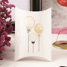 Candy Gift Boxes Swan Paper Pillow Shape Candy Guests Packaging Boxes Merry Christmas Wedding Party Favors Kids Gift Decor(China)