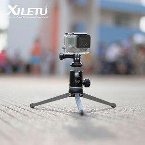 Image 5 - XILETU MT26+XT15 Aluminum Alloy Desktop Bracket Mini Tabletop Tripod with Ball Head For DSLR Camera Mirrorless Camera Smartphone