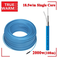 Underfloor Single Conductor Heating Cable 2000W