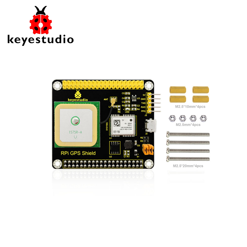 Keyestudio NEO-6M  GPS Shield Expansion Board with Antenna for Raspberry Pi 3/CE CertificationKeyestudio NEO-6M  GPS Shield Expansion Board with Antenna for Raspberry Pi 3/CE Certification