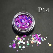 35 bottle/sets Mixed 1-3mm Plastic Thin Round Sticker Nail Art Mini Paillette Nail Decorations Sticker Laser Glitter Tips P01-35