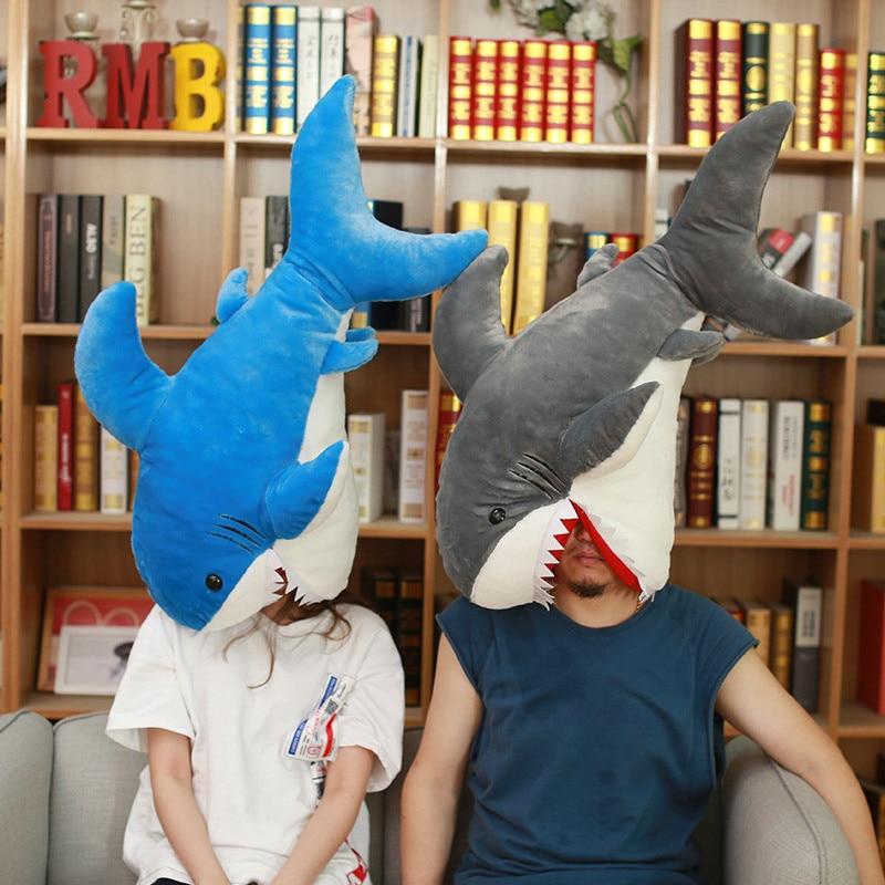 90 cm grande taille bouche ouverte requin en peluche jouet de haute qualité drôle Animal en peluche oreiller jouets en peluche jouets pour enfants