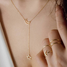 Kolye Hot Sale Moana Choker 2019 New Style Sexy Star Charm Long Necklace For Women Stars Lady Tiny Chain Wedding In Color