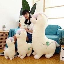 New Creative White Alpaca Plush Toys Stuffed Animal Doll Toy Soft Plush Pillow Children Toy Girls Birthday Gift цена