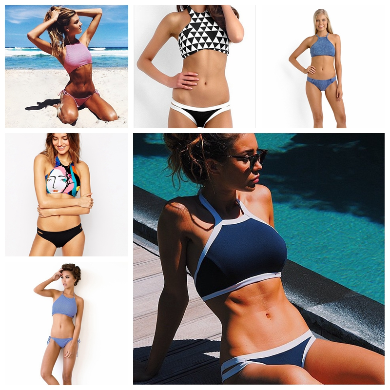Pj-2017-New-Print-Women-Sexy-Bikini-High-Neck-Halter-Swimsuit-Solid-Brazilian-Bathing-Suit-Slim-Bottom-Geometry-Bathing-Suit-1