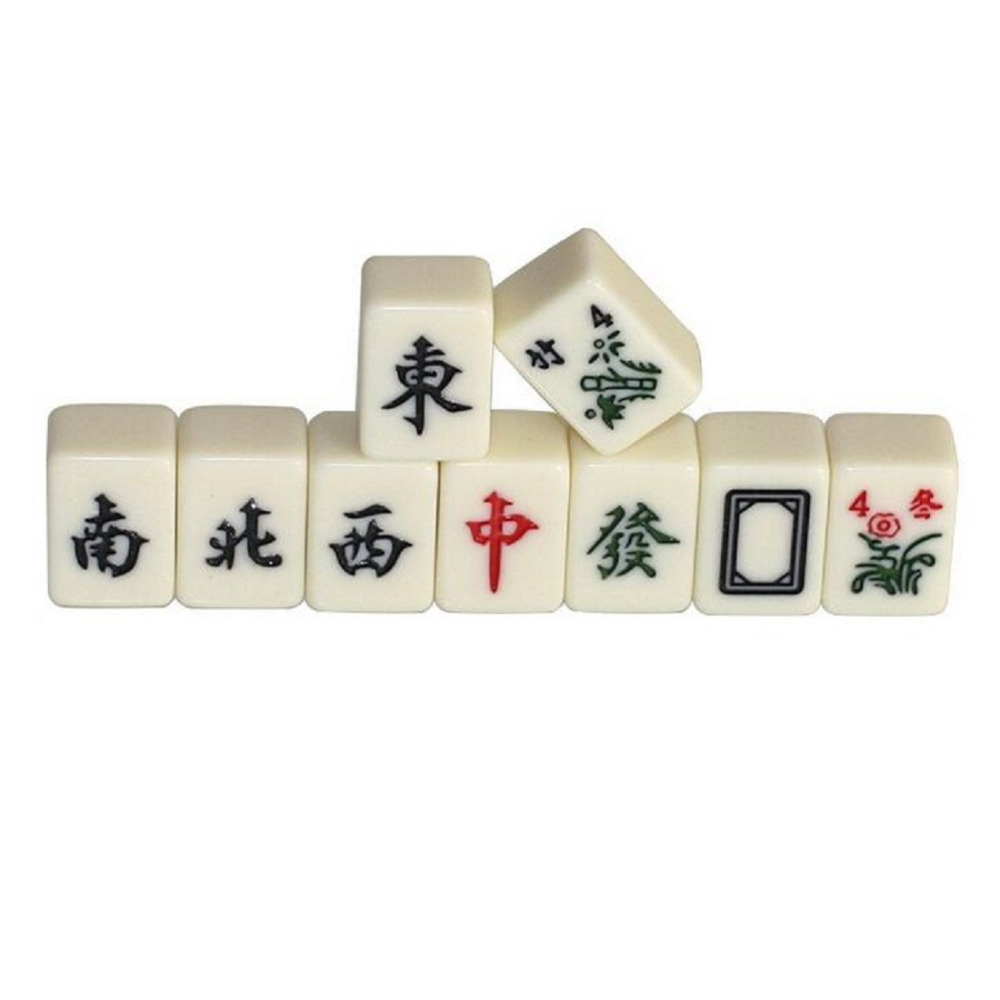 Garten Mahjong Us 26 99 Mini 144 Mahjong Tile Set Travel Board Game Chinese Traditional Mahjong Games Portable Size W3164 In Figurines Miniatures From Home