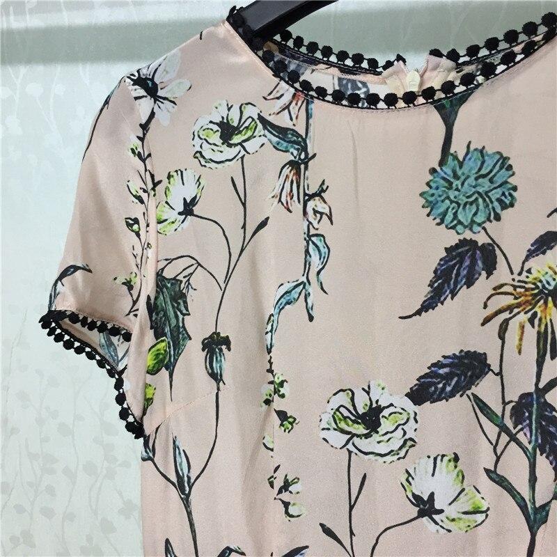 ligne Avec Courtes O Manches Dame Vintage Femmes Les Mode A De Robe Pour 2019 cou Imprimer Nouveau qX7PHOn