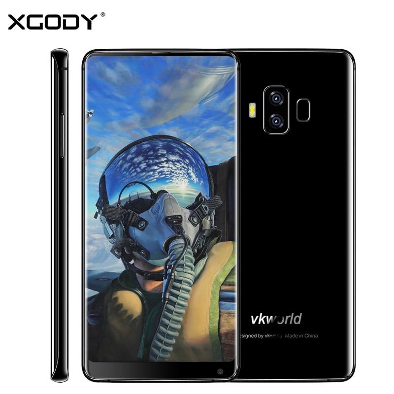 En Stock Vkworld S8 4g LTE Double Carte Sim Smartphone 6.0 pouce Android 7.0 Octa Core 4 gb + 64 gb D'empreintes Digitales OTG Mobile Téléphone 5500 mah