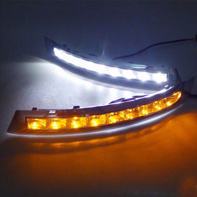 DRL For VOLVO XC90 2007 2008 2009 2010 2011 2012 2013 LED Daytime Running Light LED