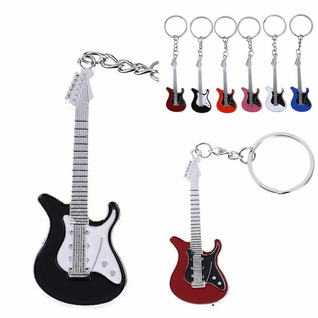 Creative metal electric guitar mini keychain key chain key ring gifts Pip E /_PY