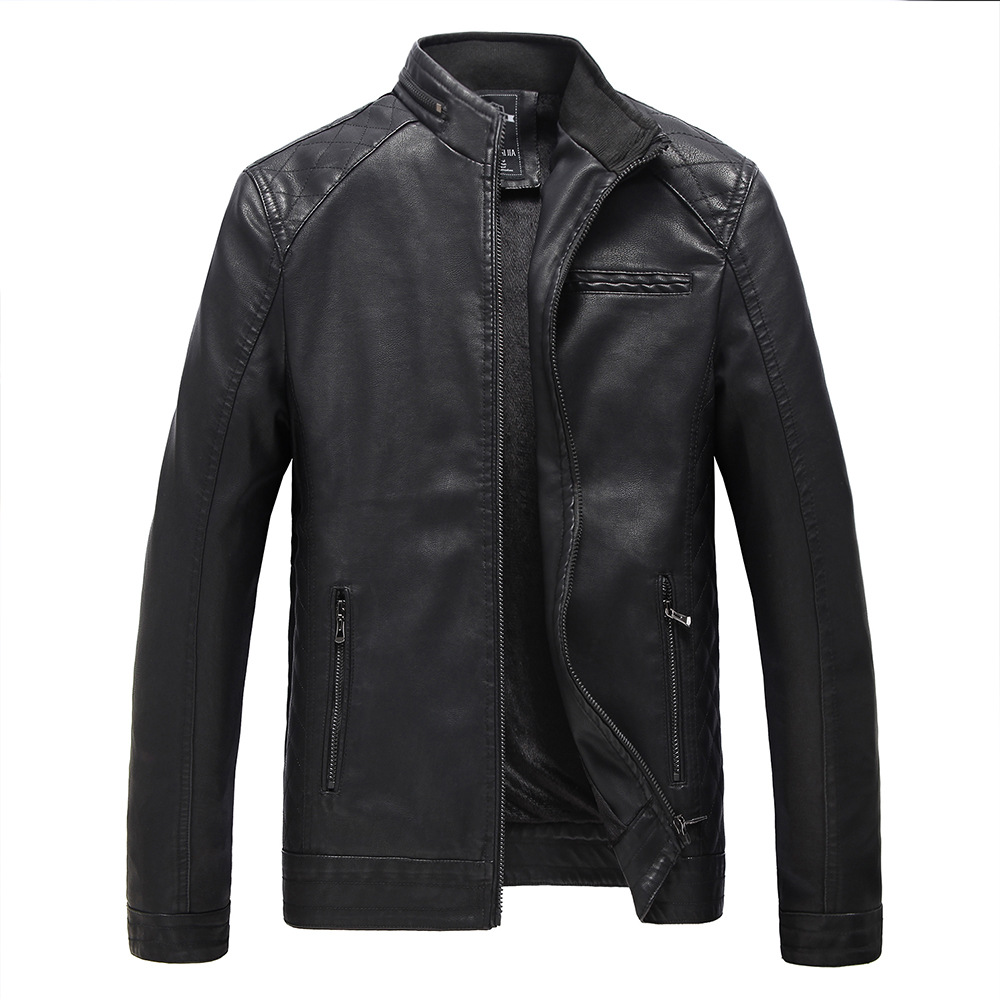 2017 New Male Autumn Winter Brand PU Leather Jacket Men Motorcycle Leather Jackets Overcoat Jaqueta High Quality