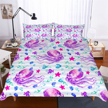 Bedding Set 3D Printed Duvet Cover Bed Octopus Home Textiles for Adults Lifelike Bedclothes with Pillowcase #ZY06