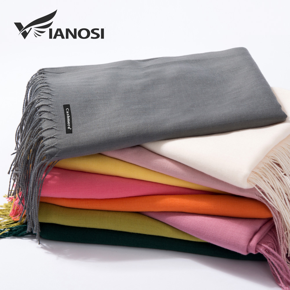 VIANOSI 2018 Autumn and Winter   Scarf   Women Fashion Solid Cashmere   scarves   for Women Shawls and   Wraps   35 Colours