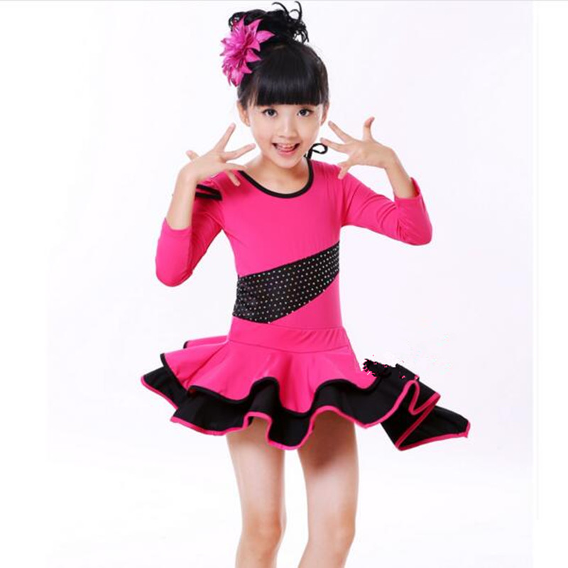2016 Elegant Cute Children Dance Dress Girl Shining Sequined Ballet Dress Kids Fitness Clothing Performance Wear Leotard Costume kids dresses for girls girl dress free shipping2010 fashion dance dress performance wear leotard 085 hair accessory oversleeps