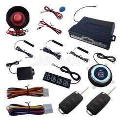 Kod toczenia alarm samochodowy PKE System W HAA Flip kluczyk z pilotem zdalnego sterowania Push Push System zdalnego uruchamiania zatrzymać silnik klawiatura hasło
