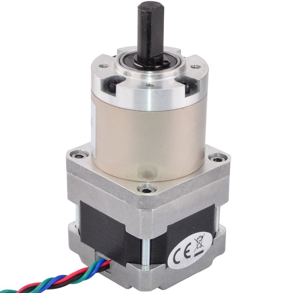 4-lead Nema 16 Gear Stepper Motor Bipolar Gear Ratio 14:1 0.6A with Planetary Gearbox 3D Printer CNC Robot цена