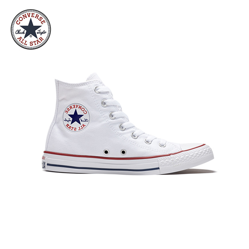 Genuine Black White Converse ALL STAR Sneaker Unisex High Top Skateboarding Shoes Women Men Lace-up Classic Canvas Sneaksers new converse chuck taylor all star ii low men women s sneakers canvas shoes classic pure color skateboarding shoes 150149c