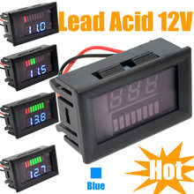 New LED Indicator 12V Lead-acid Battery Capacity Tester Voltmeter Reverse Protection Free Shipping with Track Number 10000865(China)