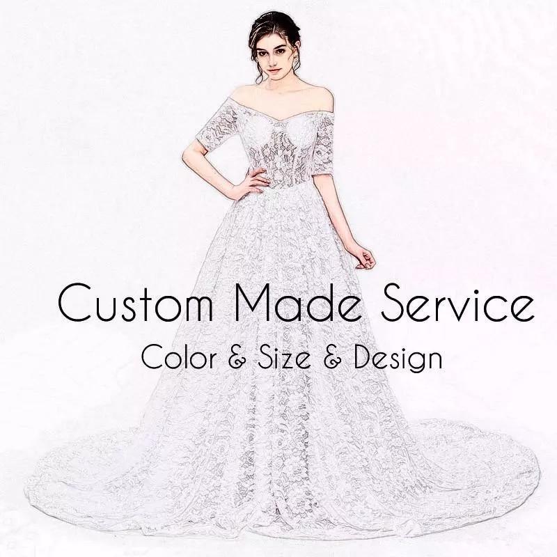 Módní Scoop Applied Beaded krajka s krátkým rukávem Vestidos De - Šaty pro svatební hostiny - Fotografie 4