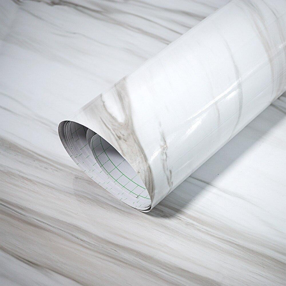 mrmol blanco como la nieve glaciar wallpaer vinilo impermeable etiqueta de la pared para encimera